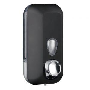 Marplast zeepdispenser A71401NE - Professionele kwaliteit - Zwart met Transparant - 550 ml - Geschikt voor openbare ruimten